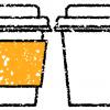 テイクアウトカップイラスト無料素材フタ白