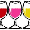 グラスに入ったワインイラスト無料素材