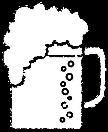 ビールイラスト白黒