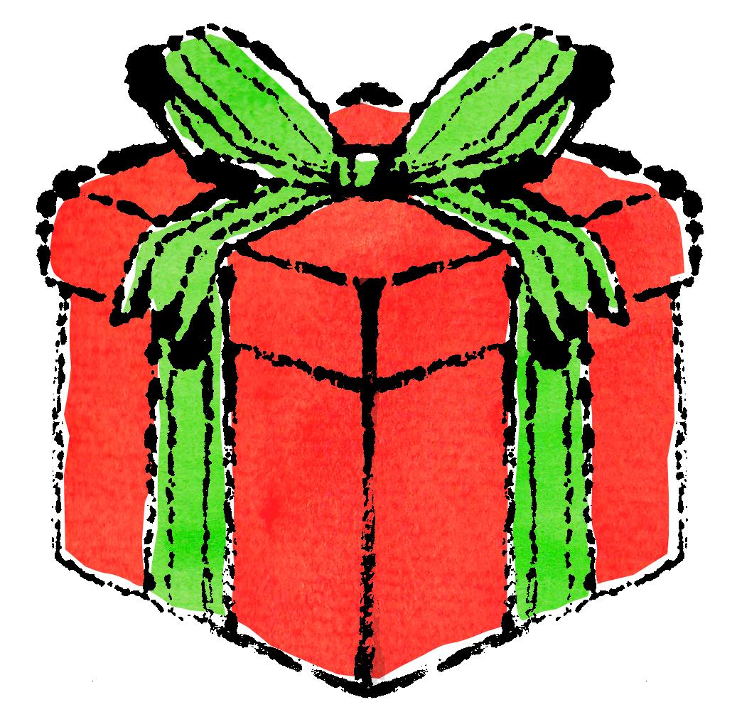 クリスマスプレゼントイラスト無料素材