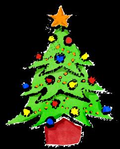 クリスマスツリーイラスト無料