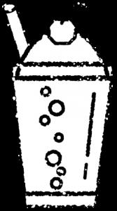 クリームソーダイラスト白黒