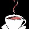 カップ&ソーサーのコーヒー無料イラスト