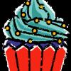 カップケーキイラスト無料素材1