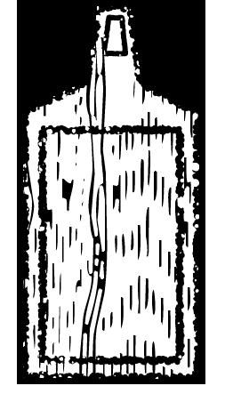 カッティングボードイラスト白黒