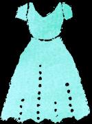 ドレスイラスト青