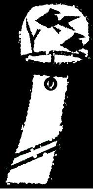 風鈴イラスト無料素材白黒