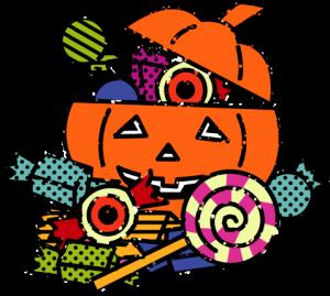 ハロウィンお菓子イラスト