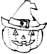 ハロウィン帽子白黒イラスト無料