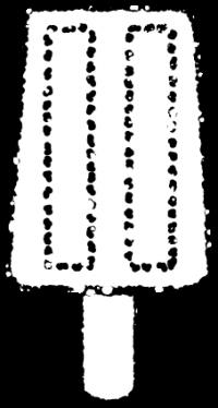 アイスバーイラスト白黒