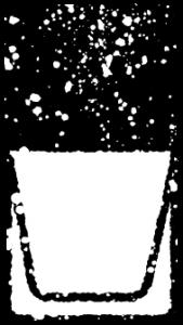 マニキュアイラスト白黒