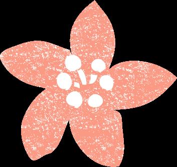 桃の花 イラストかわいい