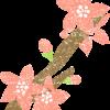 桃の花イラスト無料素材