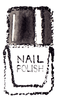 ネイルイラスト白黒無料素材