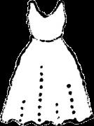 ドレス白黒イラスト