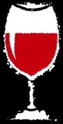 グラスワインイラスト赤