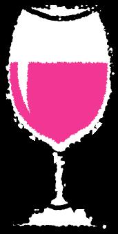 グラスワインイラストロゼ