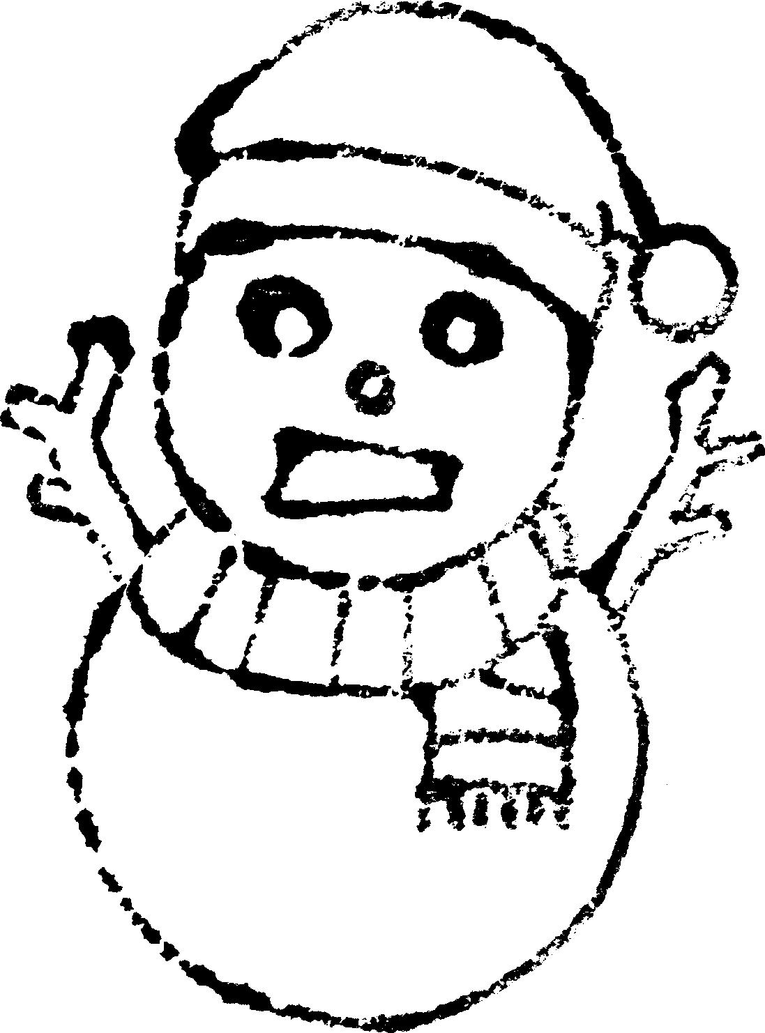 クリスマスイラスト白黒