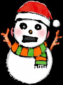 クリスマスイラスト雪だるま無料