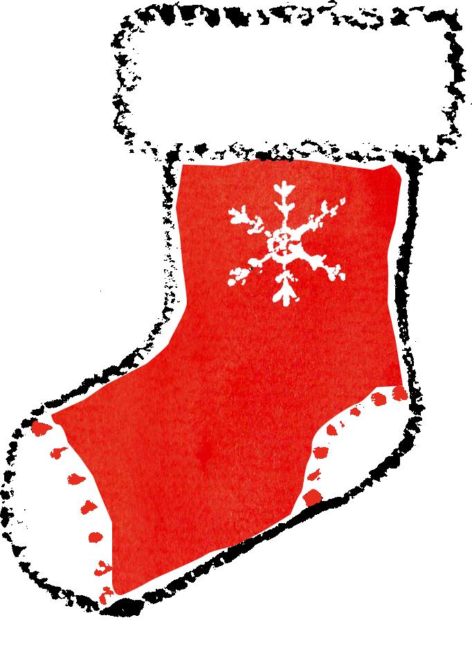 クリスマス靴下イラスト無料素材