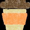 テイクアウトカップイラスト無料素材(温かい飲み物)