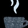 コーヒー紅茶カップアンドソーサーイラスト無料素材