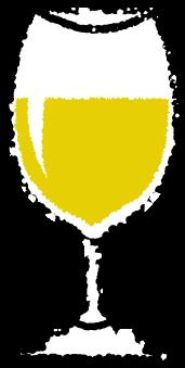 グラスワインイラスト白