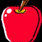 かわいいリンゴイラスト無料素材