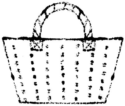 かごバッグイラスト無料素材