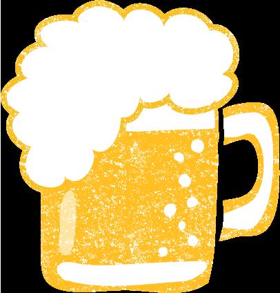ビール イラスト かわいいフリー