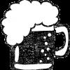 ビールイラスト白黒無料素材