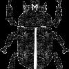 カブトムシイラスト白黒無料素材