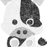 干支牛イラスト白黒無料素材