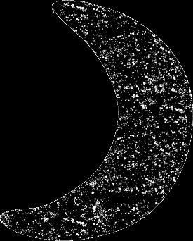 かわいい三日月イラスト白黒無料素材