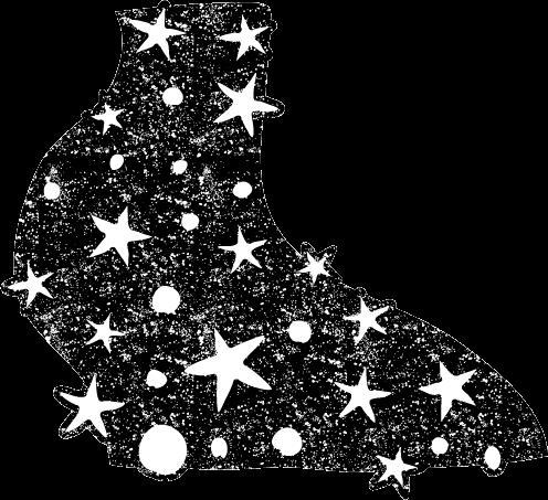 かわいい天の川イラスト白黒無料素材
