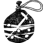 かわいい水風船イラスト白黒無料素材