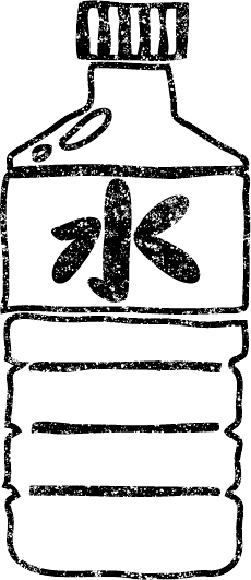 水ミネラルウォーター白黒イラスト無料