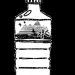 水ミネラルウォーター無料イラスト白黒
