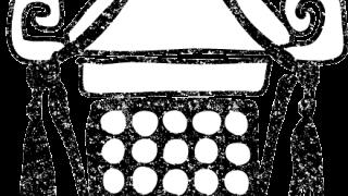 お神輿おみこしイラスト白黒無料