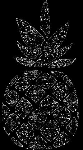 パイナップル白黒イラスト