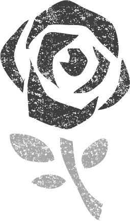 バレンタインデー文字イラスト白黒無料素材