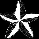 星イラスト白黒無料素材