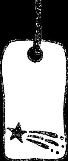 かわいい短冊イラスト白黒無料素材