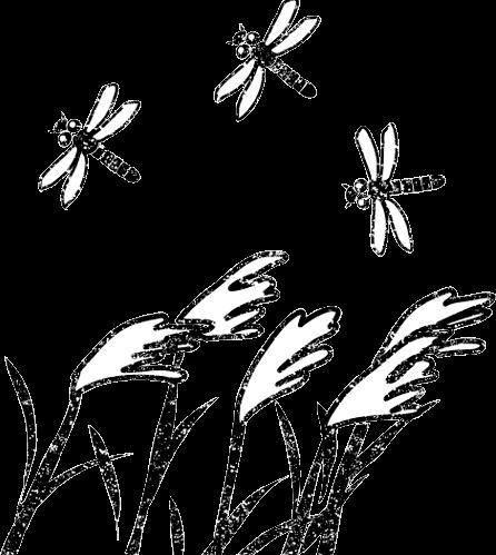 とんぼイラスト白黒無料かわいい