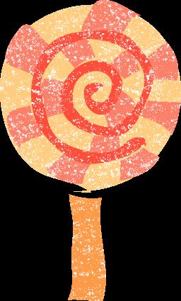 かわいいペロペロキャンディー イラスト無料素材