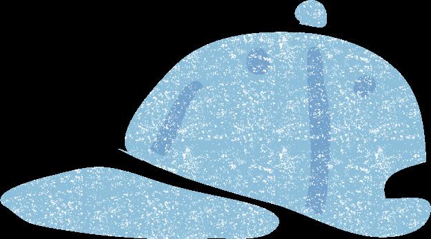 かわいいキャップ野球帽イラスト横無料素材