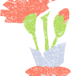 かわいいカーネーション花束イラスト無料素材