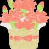 カーネーション鉢植えイラスト無料素材