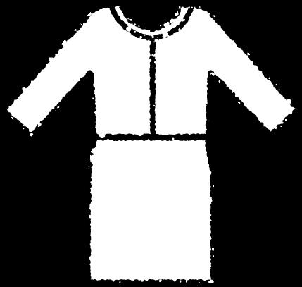 かわいいセレモニースーツイラスト無料素材白黒