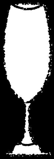 かわいいシャンパングラスイラスト無料素材白黒